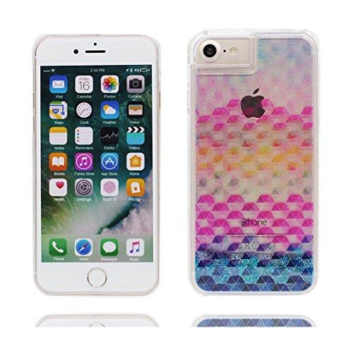 iPhone 7 Plus Custodia, Vista trasparente Case gel libera progettata, iPhone 7 Plus Copertura 5.5 / Cover Cartoon ( gatto Sparkle ) / Farfalla di Bling / Durable color 5