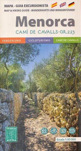 Cam de Cavalls - GR 223 - Minorque randonne Map & Guide 1:50K (Balares, Espagne)