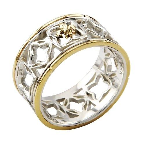 Argentvm Avrvm - Vierge de Lorraine - Herren Ring Sterling Silber 925, Gelbgold 14 Karat (585), Gr. 60 (19.1) (Lorraine Ring)