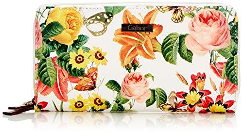 Gabor Damen Granada Bloom Geldbörse, (Weiß), 20x10.5x2.5 cm