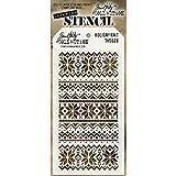 Stempel Anonymous Kunststoff Tim Holtz Layered Stencil 4.125-inch X 21,6cm, Urlaub Knit
