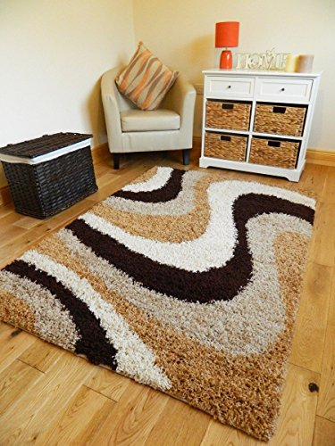 EXTRA LARGE SMALL MEDIUM BROWN BEIGE GOLD CREAM NEW MODERN SOFT THICK SHAGGY NON SHED PILE BEDROOM RUG HALL CARPET LIVING ROOM MAT CHEAP (200 X 270 CMS)