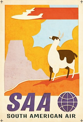 vintage-travel-south-america-with-saa-south-american-airlines-250gsm-gloss-art-card-a3-reproduction-
