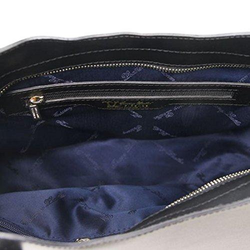 Tuscany Leather Olimpia - Borsa shopper in pelle Ruga - Misura piccola - TL141521 (Magenta) Nero