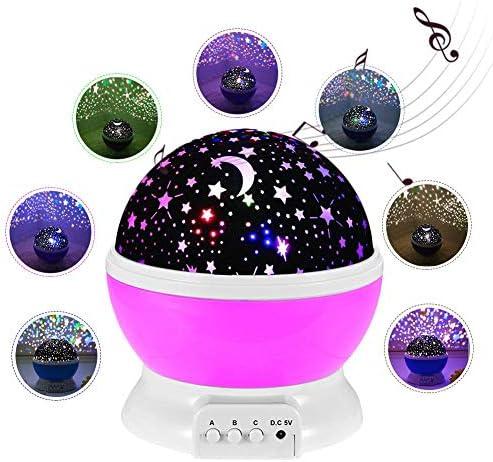 Blue-Yan Projecteur de Musique Rotatif RoFemmetique Amélioré comme sous Les Étoiles Coloré Veilleuse pour  s   Impeccable