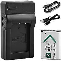 BPS alta capacidad NP-BX1 NPBX1 / M8 bateria para Cyber-shot de Sony HDR-CX240 HDR-CX240E DSC-RX1 DSC-RX10 II DSC-RX1B DSC-RX1R DSCHX60, DSCWX500, DSC-HX50 DSC-HX400, DSC-H400, DSC -WX350, DSC-HX300V, Puente DSC-RX100 c¨¢mara digital compacta + USB + cargador de bater¨ªa Micro USB cable + mini USB de la cuerda