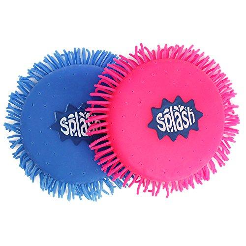 com-four® 2X Wasser Frisbee, Wasser Wurfscheibe aus Schaumstoff und Silikon, Extra Soft, in knalligen Farben, 12,5 cm (02 Stück - Frisbee 12.5 cm) - Frisbee Große Extra