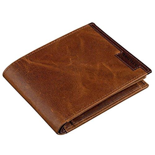 STILORD Vintage Herren Geldbörse Portemonnaie Brieftasche Geldbeutel aus hochwertigem Echt Leder, braun, Farbe:Cognac - antik - Brieftasche Braun Herren Portemonnaies