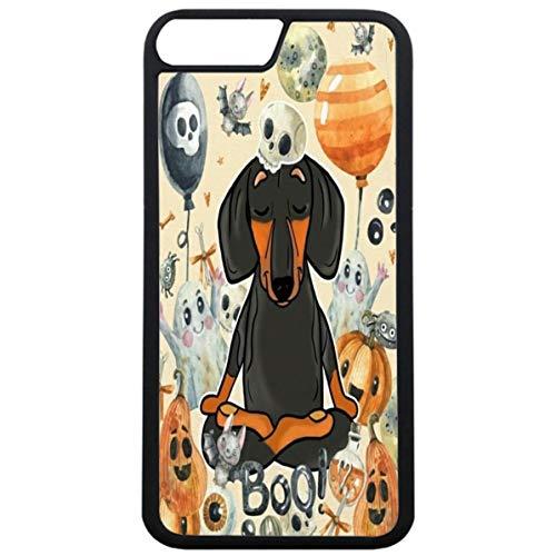 Guuhuu iPhone 7 Plus Hülle Dackel Welpe Hund,iPhone 8 Plus Schutz Handy Hülle Dachshund Dog Pet Schutzhülle Halloween Dachshund Anti-Fallen Hülle Cover für iPhone 7 Plus/8 Plus