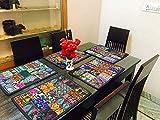 ndischen Jahrgang Patchwork Esstisch Baumwolle Tischsets, Tischläufer, Tischdecke, Schreibtisch Tisch Pads, handgefertigt Tischset (5-teiliges Set)