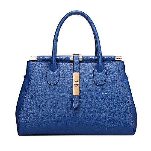 Borse Yy.f Moda Grandi Nomi Borse Di Coccodrillo Tracolla In Pelle La Signora Big Bags Sacchetti Multicolore Blue