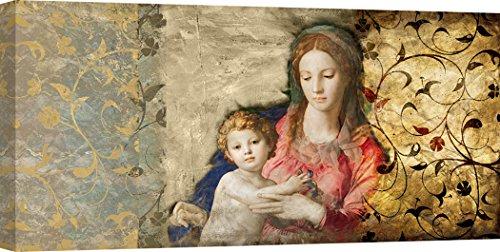 Art Print Cafe - Cuadro - Impresion sobre Lienzo - Simon Roux, Virgen María (After Bronzino) - 100x50 cm