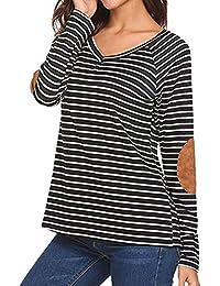 c3487dc9a09cc Vectry Camisetas Mujer Camisetas Mujer Originales Camiseta Rayas Mujer  Camiseta De Rayas Mujer Camiseta Manga Larga