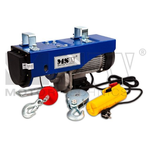 MSW - Wire rope hoist PROLIFTOR 600 – 492.1 in (12.5m) – 1322.7 lbs (600kg) – with strain relief Test