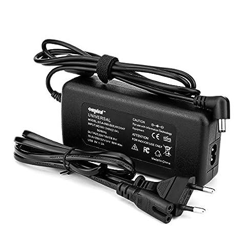 Sunydeal Chargeur d'Alimentation 90W 12v-24v pour Acer, Sony, Fujitsu, Toshiba, Fujitsu, NEC, Grande Muraille, HP (Hp Cc Alimentatori)