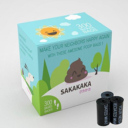 sakakaka 300Kotbeutel, für Hunde–biologisch abbaubar, parfümiert, widerstandsfähig.