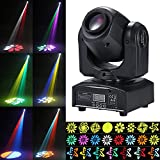 Tomshine Teste Mobili LED 30W, 8 Gobo e Totalmente 15 Colori 9/11 Canale DMX512 Master-slave, Suono Attivo Strobo, Auto-run per DJ Disco Club Wedding Party Dance Bar Lighting