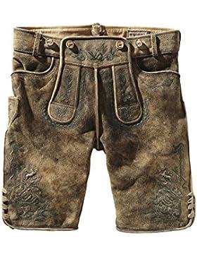 Stockerpoint - Herren Trachten Lederhose in der Farbe Hanf gespeckt mit Träger, Muck