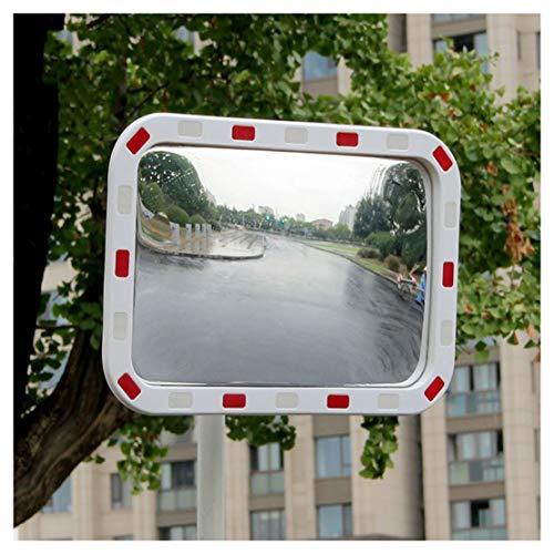 Outdoor cieco specchio della zona, Grandangolo Sicurezza Stradale specchio convesso bianco curvo for Safurance carreggiata Spot Traffic Safety segnale Specchio (Size : 60 * 80cm)