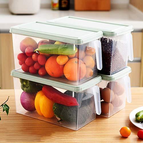 Gefrierschrank Lagerung Von Lebensmitteln (TxDike Lan Gefriertruhen Kühlschrank Organizer Stapelbare Lebensmittel Lagerung, Free Drawer Organizers Für Kühlschrank Gefrierschrank Und Speisekammer,4transparent)