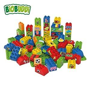 BiOBUDDi Learning to Create 60 pcs 60pieza(s) - Bloques de construcción de Juguete, 60 Pieza(s), Plaza, Imagen, Preescolar, Niño/niña