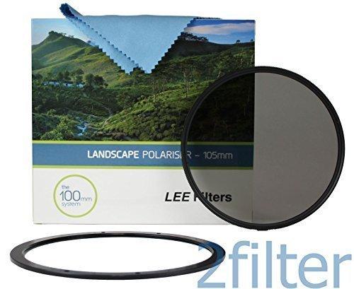 Lee Filter 105mm Slim Polfilter Landschaft mit 105mm vorne Zubehör Ring und Wyndham Digital Mikrofasertuch