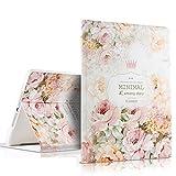 iPad PU Leder Tasche Smart Cover Folio iPad Case Hülle Tasche Schutzhülle Etui für Apple (iPad Air, Rose 2#)
