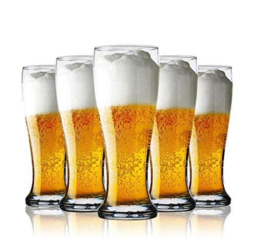 YYCDD Whiskybecher, Kristallglas, Weinglas, Bierbecher, Kreatives Weinglas, hitzebeständig, 6er-Set (425 ml)