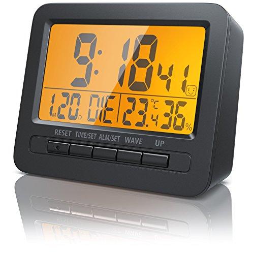 Bearware - Despertadores electrónicos Alarma de Viaje Alarma por Radio controlada por DCF - Pantalla...