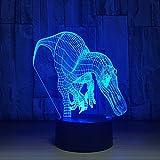 Haifischzähne Drachen 3d Licht Smart Home Großhandel 3d Nachtlichter Schöne 7 Farbwechsel Usb Led Kinder Lampe