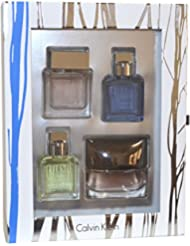 Calvin Klein Perfume Collection Gift Set for Men: 4x15ml - Eternity, Reveal, Euphoria, Eternity Aqua