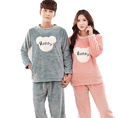 DSHUY-Otooinvierno-de-damas-y-parejas-coral-fleece-casual-piel-franela-pijamas-ropa-de-dormir-y-loungewear