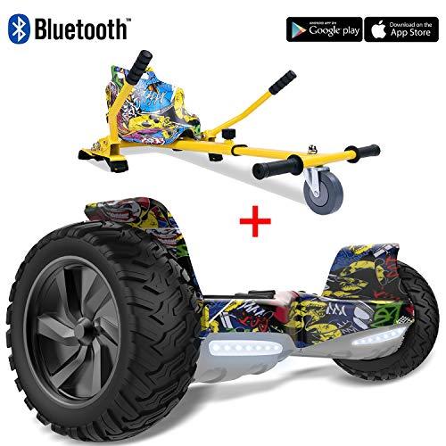 2WD Pack: Hoverkart + Hoverboard 8.5pouces Gyropode Hummer Tout-terrain avec haut-parleur Bluetooth...