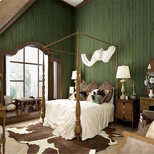 STEAM PANDA 3D Tapete Wandbild Hintergrund Tapete Muster Tapete Wohnkultur Retro Vintage Nachahmung Grün Holzmaserung Vlies, green