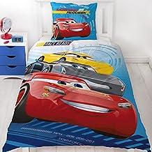 Disney Pixar Cars 3Race Ready Auto Diseño franela/cama infantil reversible Diseño–2piezas nórdica almohada 80x 80+ 135x 200cm–100% algodón