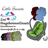Sweet Littlez ** 2in1 Cosy Soft MAXI - TURQUESA ** Cojín reductor para silla de bebé / Protector de cuerpo para coche (0-12 meses)