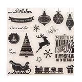 Suweqi Transparent Stempel (Fröhliche Weihnachten) DIY Handwerk Silikon Clear Stamps Für Album Foto Sammelalbum Präge Scrapbooking