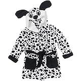 Animal Crazy Childs Boys Girls Dalmatian Bath Robe Dressing Gown Supersoft Fleece