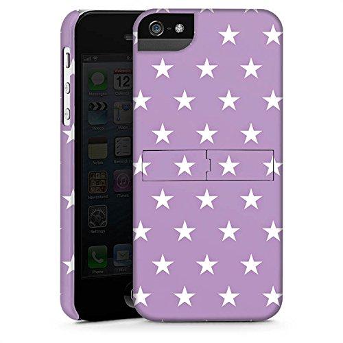 Apple iPhone X Silikon Hülle Case Schutzhülle Sterne Polka Flieder Premium Case StandUp