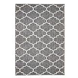 Outdoor-Teppich Flachgewebe Modern mit Marokkanischen Muster in Grau für Außen/Innengewebe Größe 120/170 cm