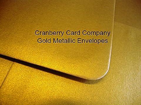 500Umschläge C6/A6Gold Metallic von Cranberry Card Company