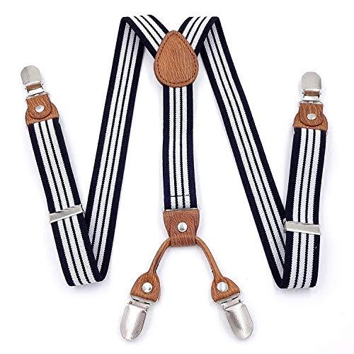 SUPOOGO Pantalon À Suspendre Bébé Enfants Britanniques avec Élastique Garçon Et Fille À Quatre Clip Élastique Pantalon Suspendu Clip