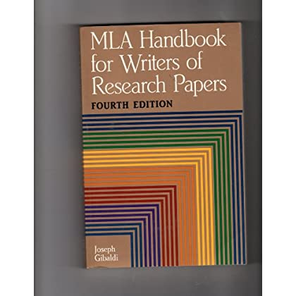 MLA Handbook for Writers of Research Papers, Fourth Edition