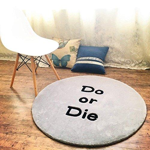 YNG Britischer Retro- Runder Teppich-Handgemachte Acryl Verdickte Wohnzimmer-Schlafzimmer-Computer-Stuhl-Decke,80 * 80 cm,AAA (Britischen Tv)