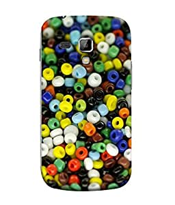 FUSON Designer Back Case Cover for Samsung Galaxy S Duos S7562 (Colourfull background Cute Pendants Patterns)