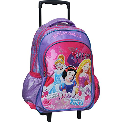 Zaino Trolley Scuola Elementare Principesse Disney 43x30x18