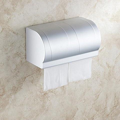 XXTT-Al lungo spazio WC vassoio, titolare di carta completamente impermeabile, scatola in lega di alluminio, scatola multi-funzionale del tessuto