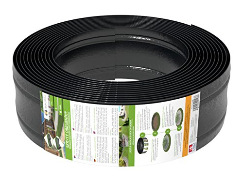 AMISPOL® Flexible Borde de Jardín, Bordillo Escondido 125/4 mm, Longitud 12 m