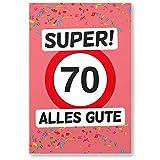 DankeDir! 70 Alles Gute - Kunststoff Schild (Rosa), Geschenk 70. Geburtstag, Geschenkidee Geburtstagsgeschenk Siebzigsten, Geburtstagsdeko/Partydeko / Party Zubehör/Geburtstagskarte