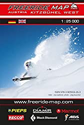 Freeride Map Kitzbühel West: Maßstab 1:25 000